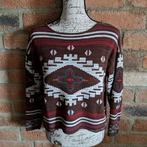 Natural Reflections Aztec Print Sweater